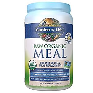 garden of life raw organic meal replacement