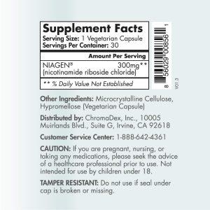truniagen ingredients label